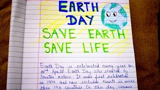 Short essay on earth day,22nd april .save planet ________________________________________________________________ other videos: speech day: ht...