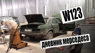 MERCEDES-BENZ W123 #21 Обзор разобранного кузова