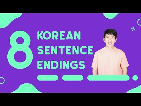 Common Sentence Endings In Korean