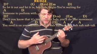 Hey Jude (The Beatles) Ukulele Cover Lesson in D with Chords/Lyrics