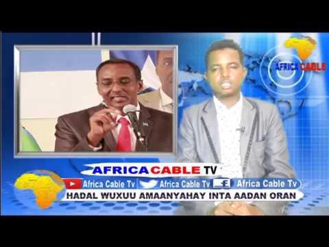 DAAWO QODOBADA WARKA AFRICA CABLE TV BY CABDIRAXMAN WADANI 18 5 17