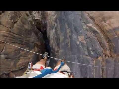 The famous Via Ferrata in Wadi Bani Awf - Oman