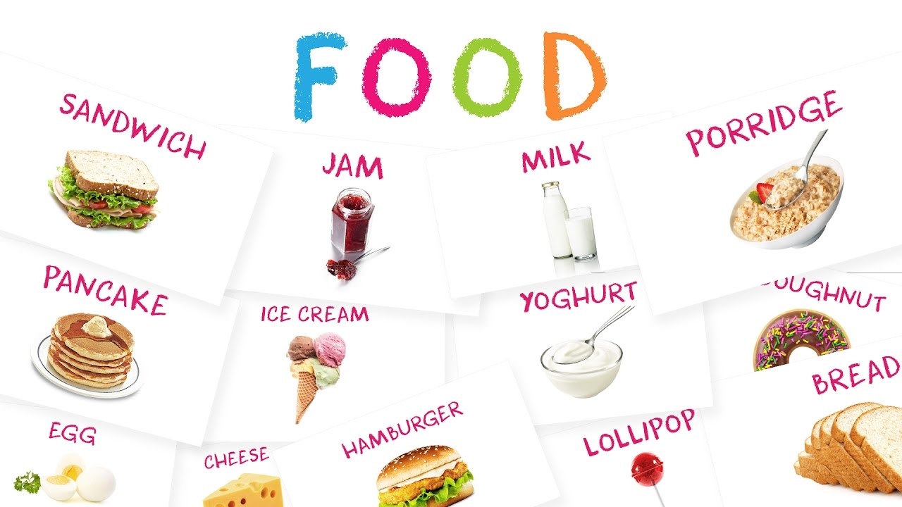 Learn Food Names & Snack Names for Kids | Spelling ...
