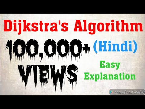 Dijkstra's Algorithm for Shortest Path Problem with Example in HINDI/URDU