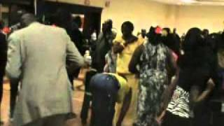 REPUBLIC Of SOUTH SUDAN DANCING PARTY IN CHICAGO ILLINOIS ON JULY 9 2011.
