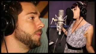 Exclusive! Watch Zachary Levi and Krysta Rodriguez Record