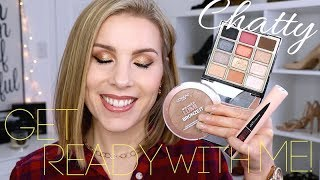 Chatty Get Ready with Me! Using NEW Drugstore Makeup!