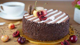 컵 계량 / 블랙 포레스트 / 체리 초코 케이크 / Black Forest Cake Recipe/ Forêt Noire / Cherry Chocolate Cake / 포레누아