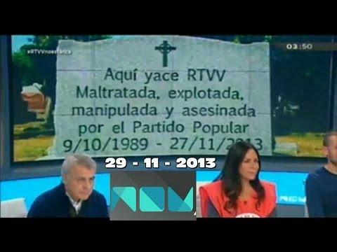 Últimos 15 minutos de la MUERTE de CANAL 9 RTVV antes de ser cerrada definitivamente