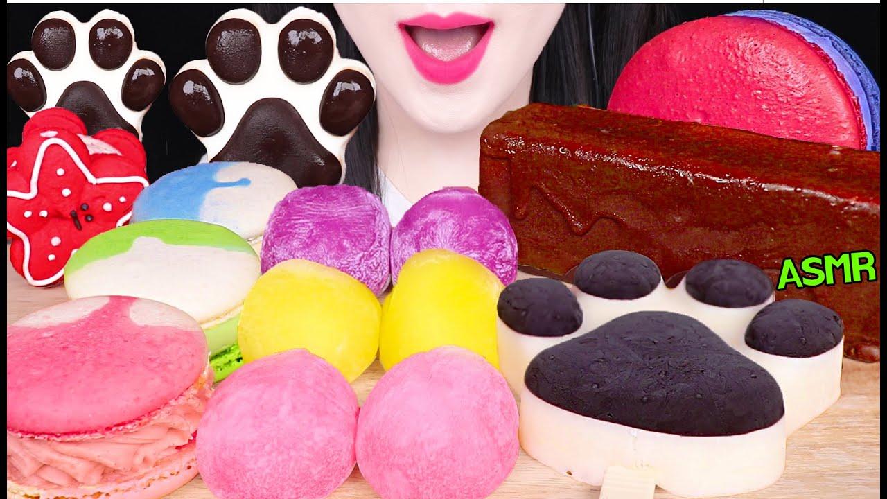 ASMR GIANT CHOCOLATE ICE CREAM, ANIMAL ICE CREAM, RICE CKAE 대왕 초콜릿 아이스크림, 발바닥 아이스크림 먹방EATING SOUNDS