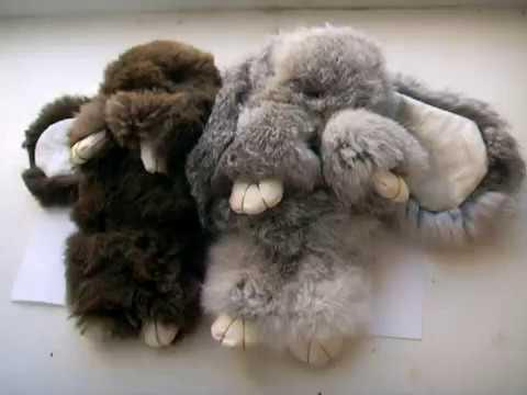Брелоки из меха кролика своими руками 845