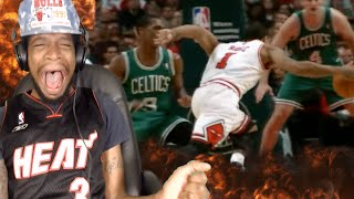HE JUST SHOOK MY ANKLES!! DERRICK ROSE TOP 10 CROSSOVERS REACTION!!