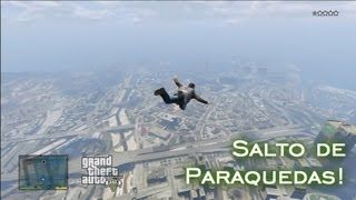 Salto de Paraquedas! | GTA V [PT-BR]