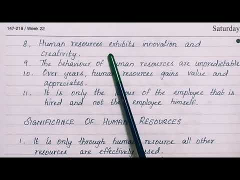 Human Resources- Meaning, Characteristics And Significance / TN PLUS TWO COMMERCE