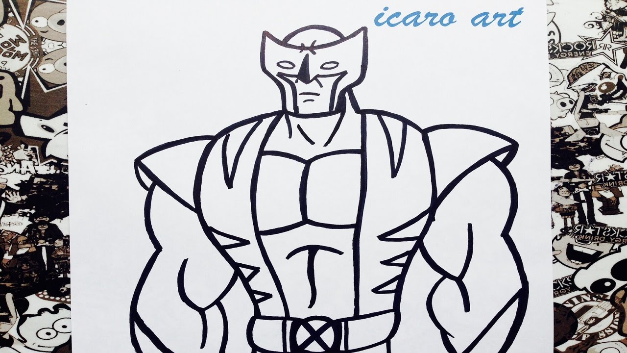 Como dibujar a wolverine | how to draw wolverine - YouTube