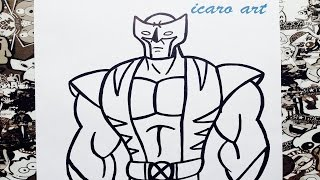 Como dibujar a wolverine | how to draw wolverine