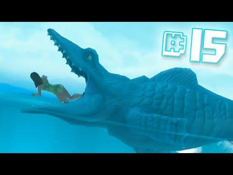 MOSASAURUS EAT!!    Hungry Shark Evolution - Ep 15