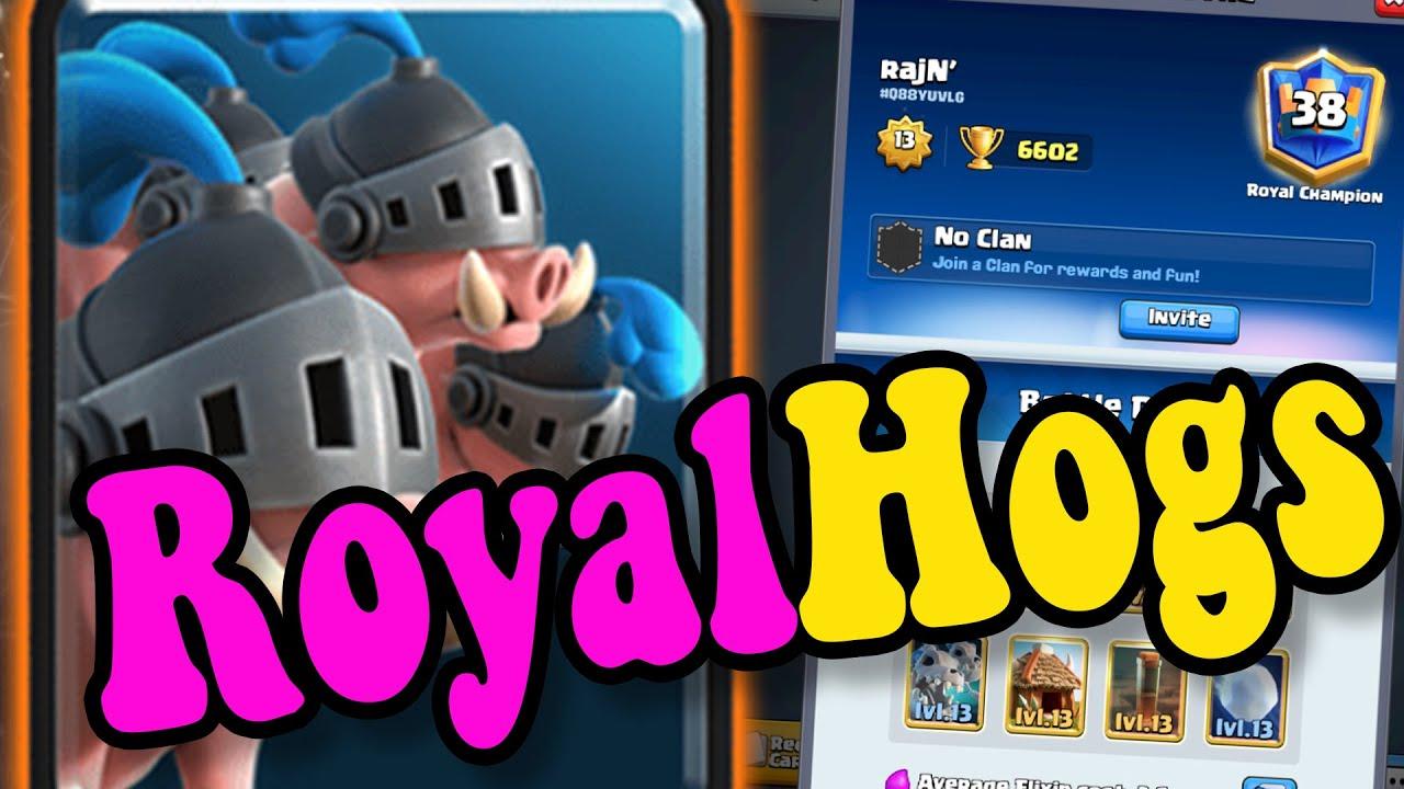 Best ROYAL HOG DECKS! 🏆rajN  6600 👈 Best  deck in clash Royale