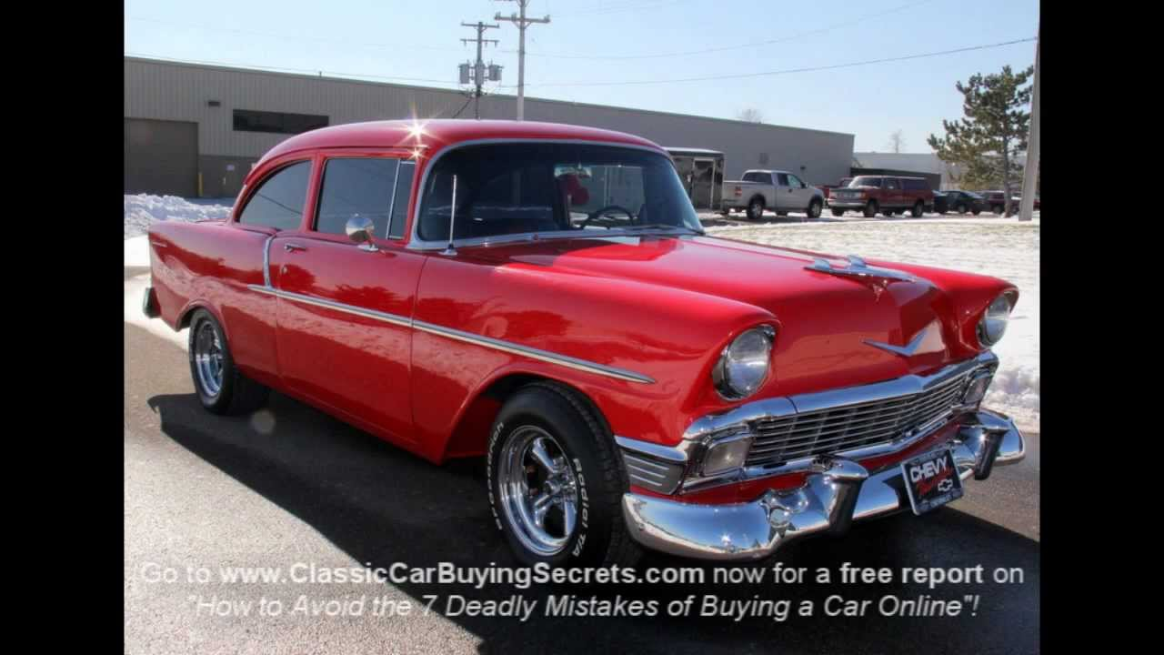 1956 chevy 150 post classic muscle car for sale in mi vanguard motor sales youtube. Black Bedroom Furniture Sets. Home Design Ideas