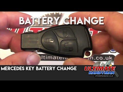 Mercedes key battery change