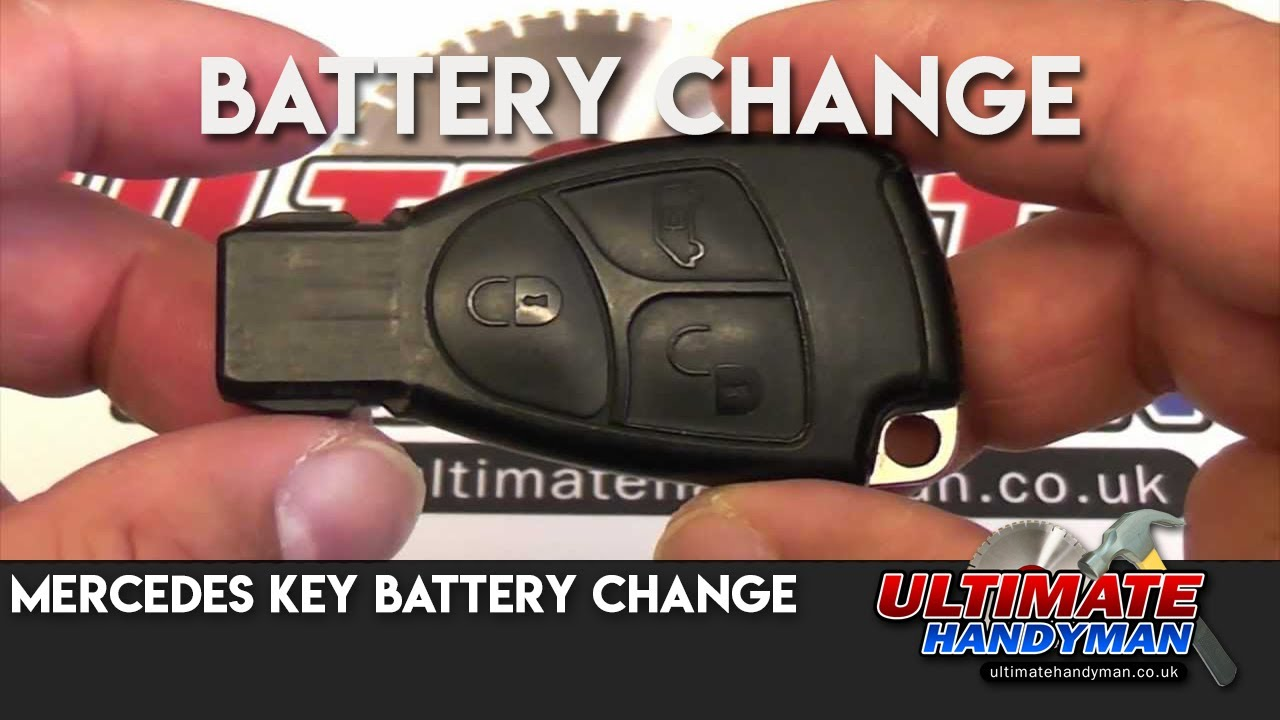 Mercedes key battery change doovi for Mercedes benz keys replacement cost