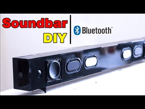 Building Bluetooth SoundBar Speaker with Old TV speaker