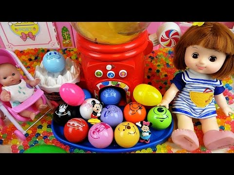 Disney Surprise eggs and Baby doll toys dispenser Orbeez play