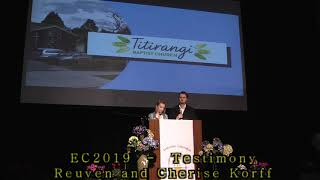 EC2019 - Testimony - Reuven and Cherise Korff