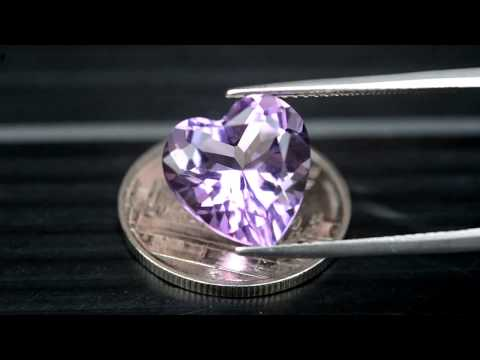 5.07ct Very Clean Natural Heart Vivid Purple Amethyst Brazil