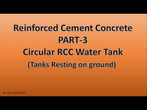 RCC Water Tanks- Part 3|Hindi| Circular Water Tank| Civil Engineering Online| CivilEngineeringOnline