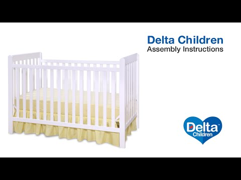 Delta Children Waves & Bennington 3-in-1 Crib Assembly Video