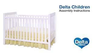 Delta Children Waves & Bennington 3-in-1 Crib Assembly Video