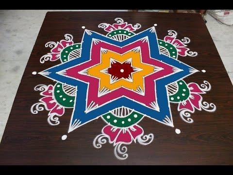 sankranthi  muggulu designs with 13x7 dots || pongal kolam designs || easy rangoli designs