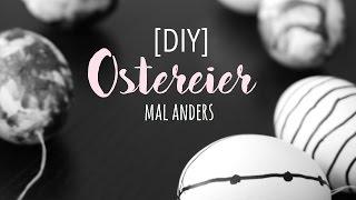 DIY OSTERN DEKORATION   OSTEREIER   MARBLE & MONOCHROME