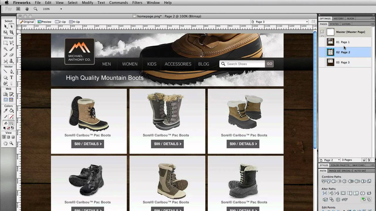 5 Things I Love About Adobe Fireworks for Designing Websites
