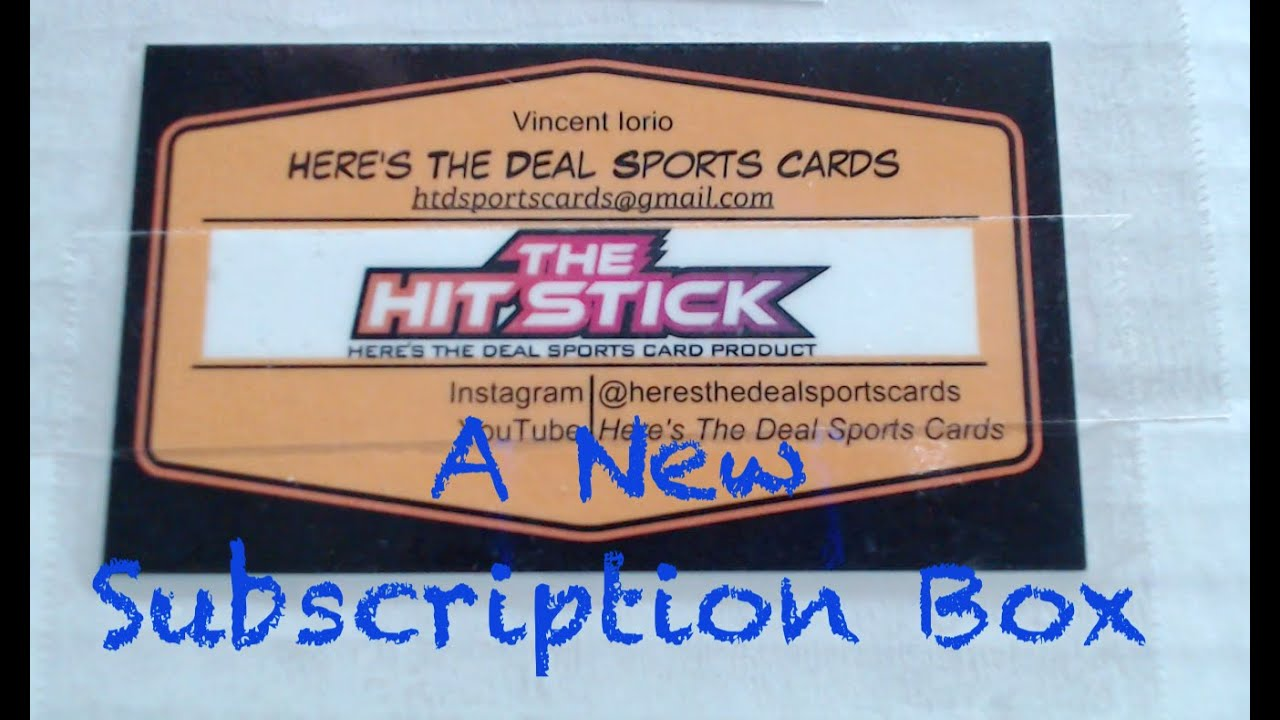 The Hit Stick Football Card Subscription Box By Heres The Deal Sports Cards