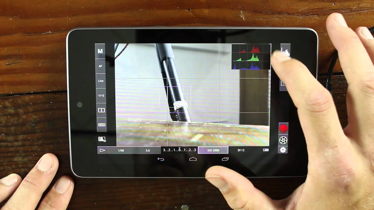 Nexus 7 Used As A Monitor And Usb Controller With Dslr Controller Dslr Film Noob Youtube
