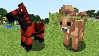 ЦВЕТНЫЕ ЛОШАДИ + НОВАЯ КОРОВА И ГОЛЕМ! Minecraft 1.14 Snapshot 19w08a