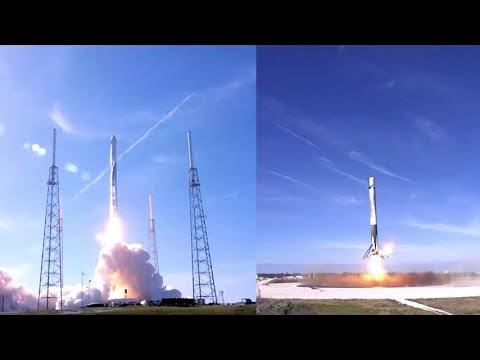spacex crs 13 falcon 9 launch landing 15 december 2017
