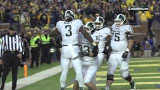 Repeat youtube video Michigan State takes down Michigan 27-23