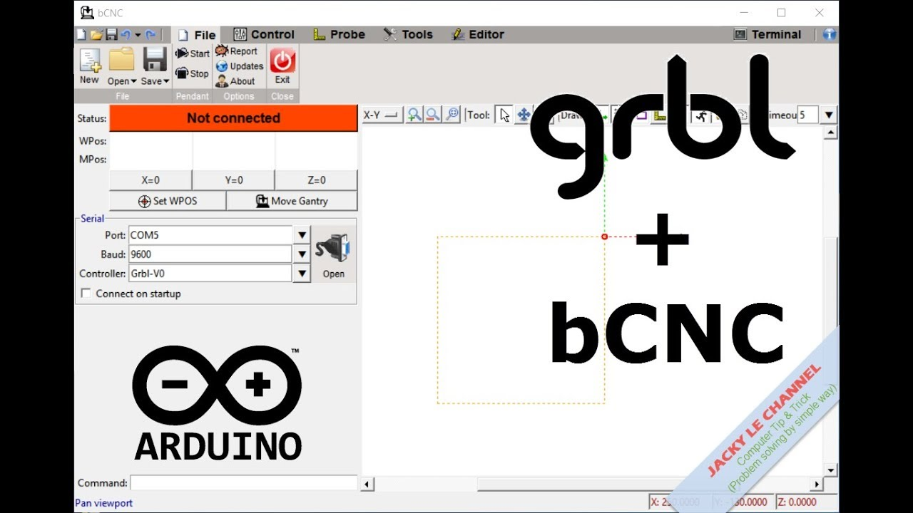 Install Grbl and bCNC for Robot Arm controller