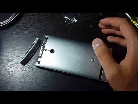 Como cambiar batería de sony xperia p / replacing battery in xperia p