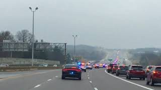 Officer O'Connor escorted to the airport.