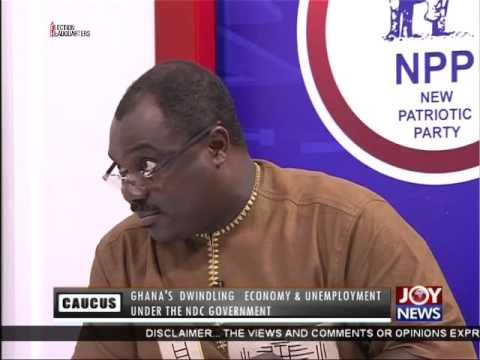 Ghana's Dwindling Economy & Unemployment - Minority Caucus on Joy News(6-10-16)