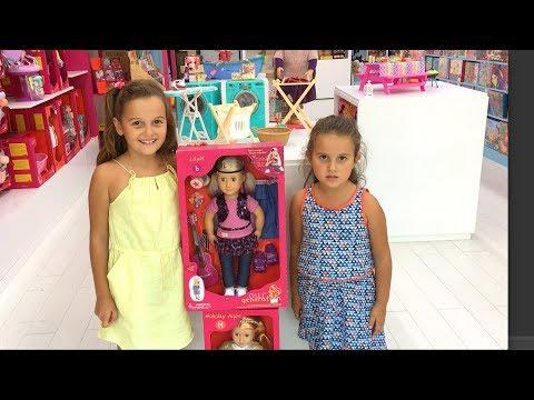 Kızlarla Our Generation Dolls Oyuncak Bebek Alışverişi   EvcilikTV