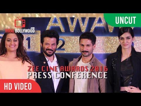 UNCUT - Zee Cine Awards 2016 PC | Shahid Kapoor | Anil Kapoor | Sonakshi Sinha | Kriti Sanon |