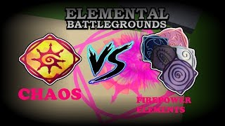 Chaos Element VS Phoenix, Void, Plasma, Spirit & Gravity Elements | Roblox Elemental Battleground