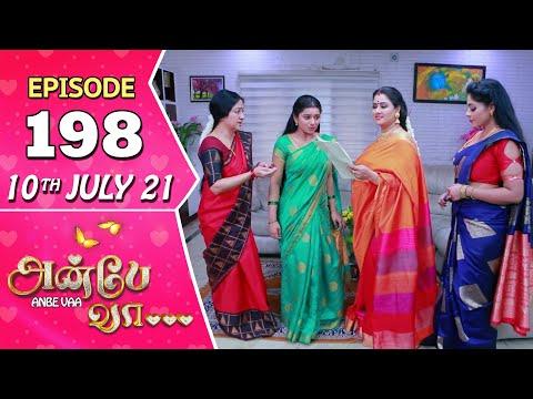 Anbe Vaa Serial | Episode 198 | 10th July 2021 | Virat | Delna Davis | Saregama TV Shows Tamil