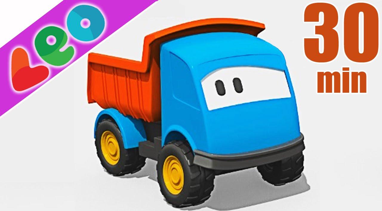Compilation 30 min de l o le camion benne curieux et ses - Leo le camion benne ...