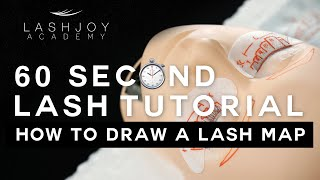 How to Draw a Lash Map [Mannequin] - 60 Second Lash Tutorial